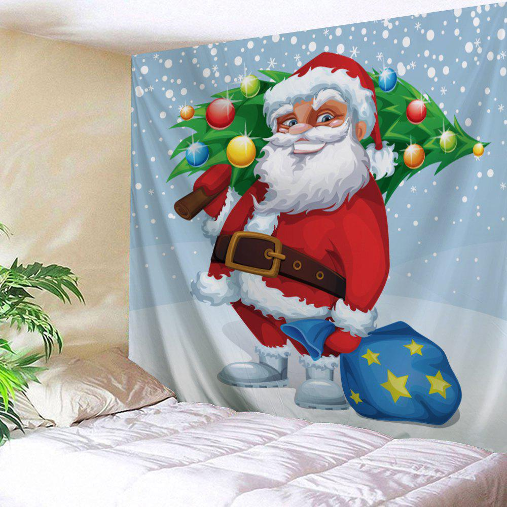 Christmas Tree Wall Decor Santa Claus Tapestry - CLOUDY W91 INCH * L71 INCH