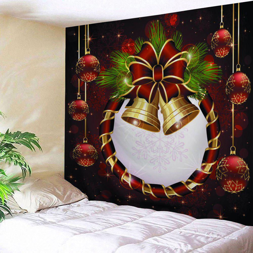 Wall Art Christmas Ball Bell Print Tapestry - COLORMIX W91 INCH * L71 INCH