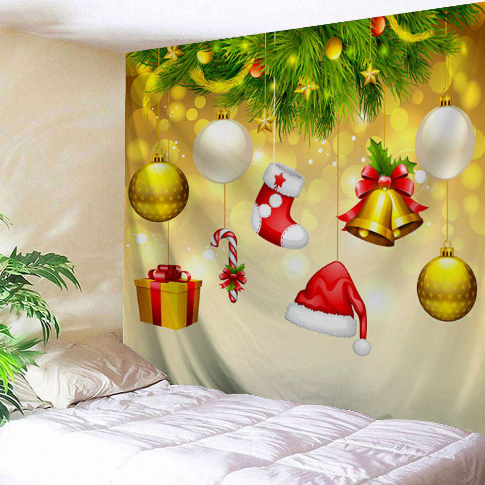2018 Christmas Baubles Bell Print Tapestry Wall Hanging Art ...