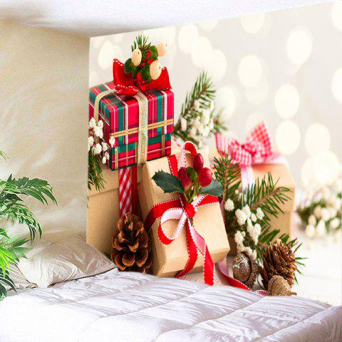 7a3d2f26df5 Christmas Gifts Print Tapestry Wall Hanging Decoration - RED W79 INCH   L59  INCH