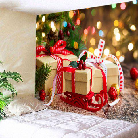 c248b692ea7 Christmas Presents Print Tapestry Wall Hanging Decor - COLORMIX W59 INCH    L51 INCH