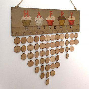 DIY Wooden Family And Friends Happy Birthday Calendar - ROUND ROUND