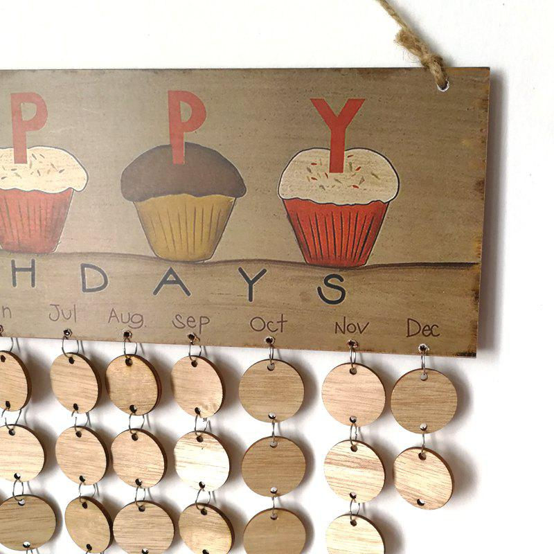 DIY Wooden Family And Friends Happy Birthday Calendar - ROUND