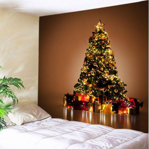 8ccfa30a168 Christmas Tree Gift Print Tapestry Wall Hanging Decor - COLORMIX W59 INCH    L59 INCH