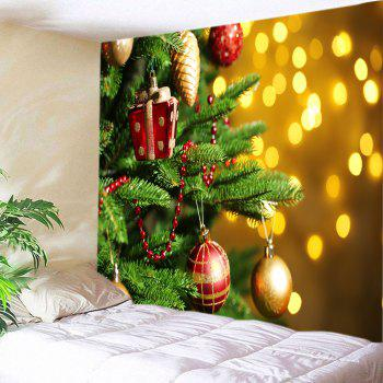 christmas tree baubles print tapestry wall hanging decor