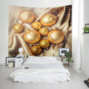 Noël Glitter Baubles Print Tapestry Wall Hanging Art - Or W79 INCH * L59 INCH