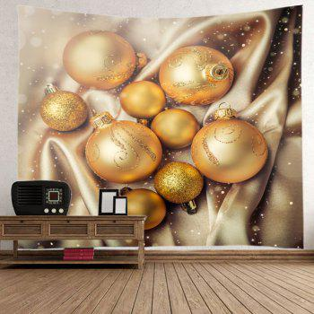 Noël Glitter Baubles Print Tapestry Wall Hanging Art - Or W91 INCH * L71 INCH