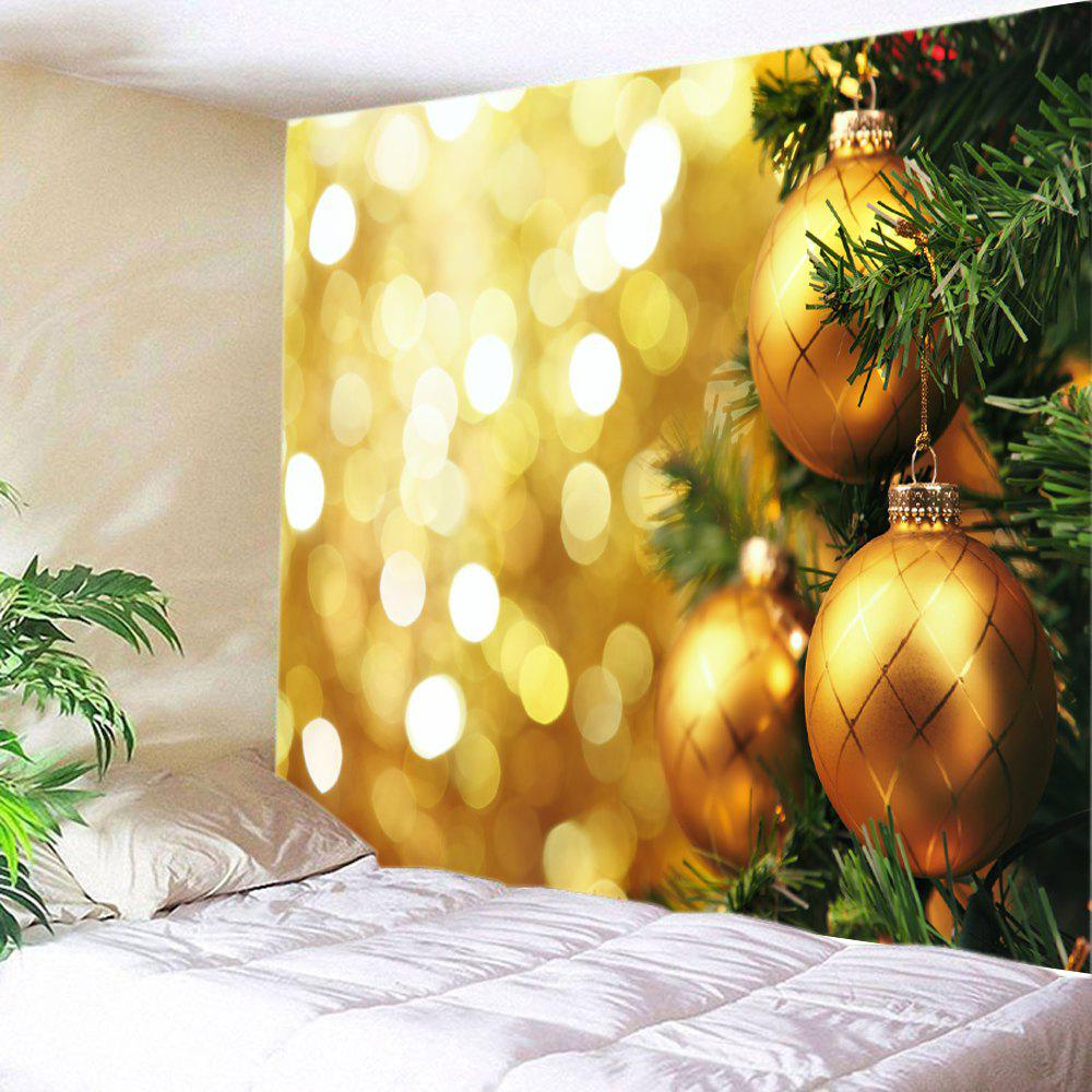 Christmas Hanging Baubles Print Tapestry Wall Hanging Art two tone stripe print tapestry wall hanging art