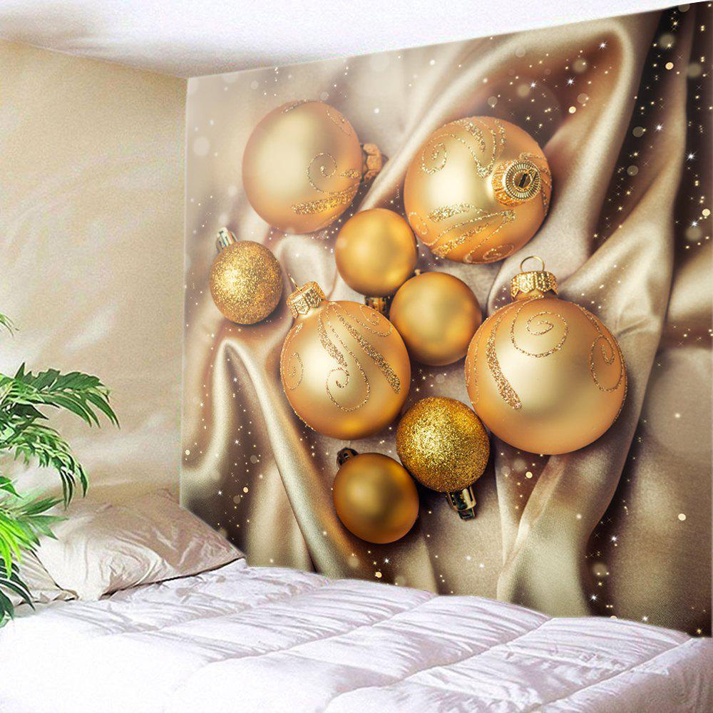 Noël Glitter Baubles Print Tapestry Wall Hanging Art - Or W59 INCH * L59 INCH
