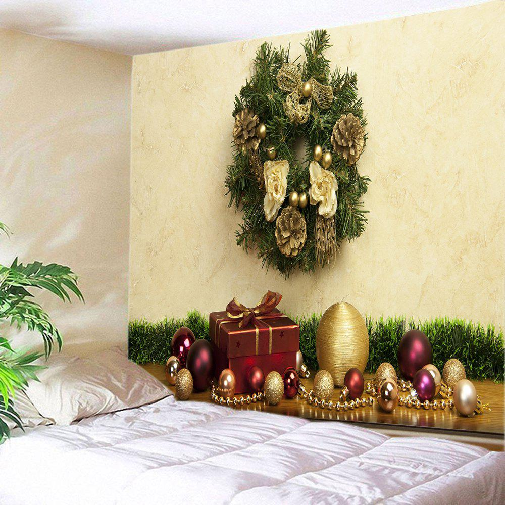 2018 Christmas Baubles Gift Print Tapestry Wall Hanging Decor ...