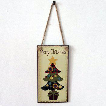 Christmas Tree Pattern Wooden Hanging Sign - BUTTERCUP BUTTERCUP