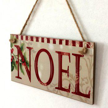 Christmas Noel Pattern Wooden Hanging Sign - COLORMIX COLORMIX