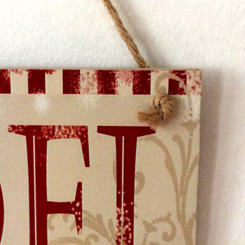 Christmas Noel Pattern Wooden Hanging Sign -  COLORMIX