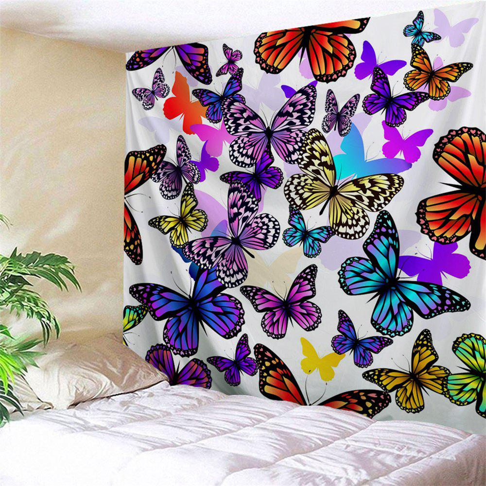 Butterfly Wall Decor Tumblr : Colorful butterfly print wall decor tapestry w