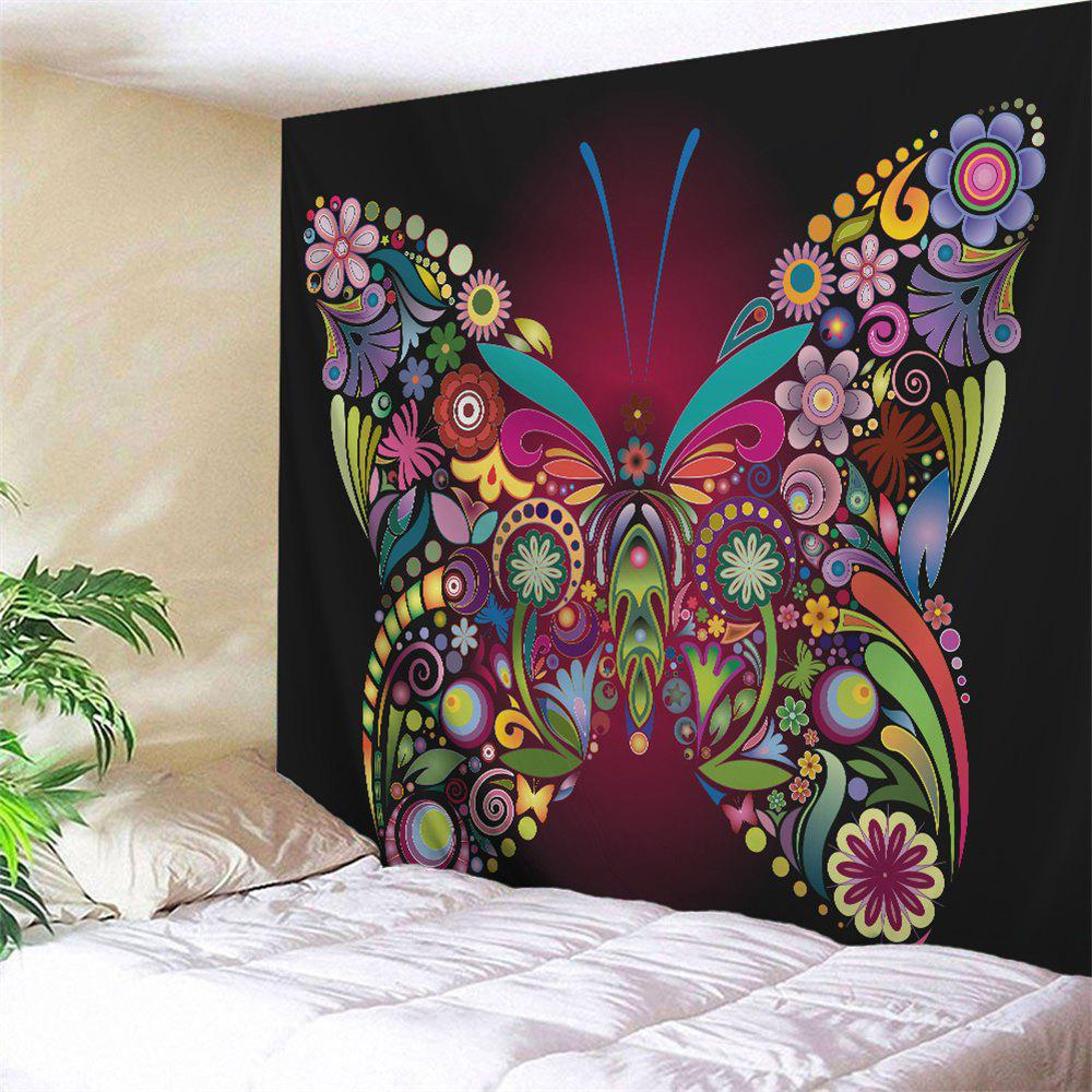 Butterfly Wall Decor Tumblr : Colorful butterfly pattern wall art tapestry w
