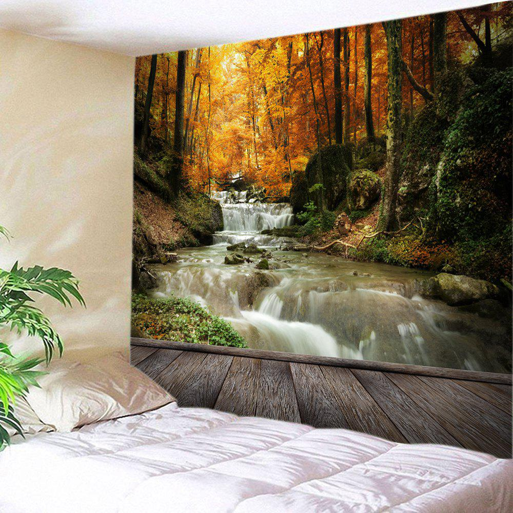 Maple Forest Stream Print Tapestry Wall Hanging Art цены