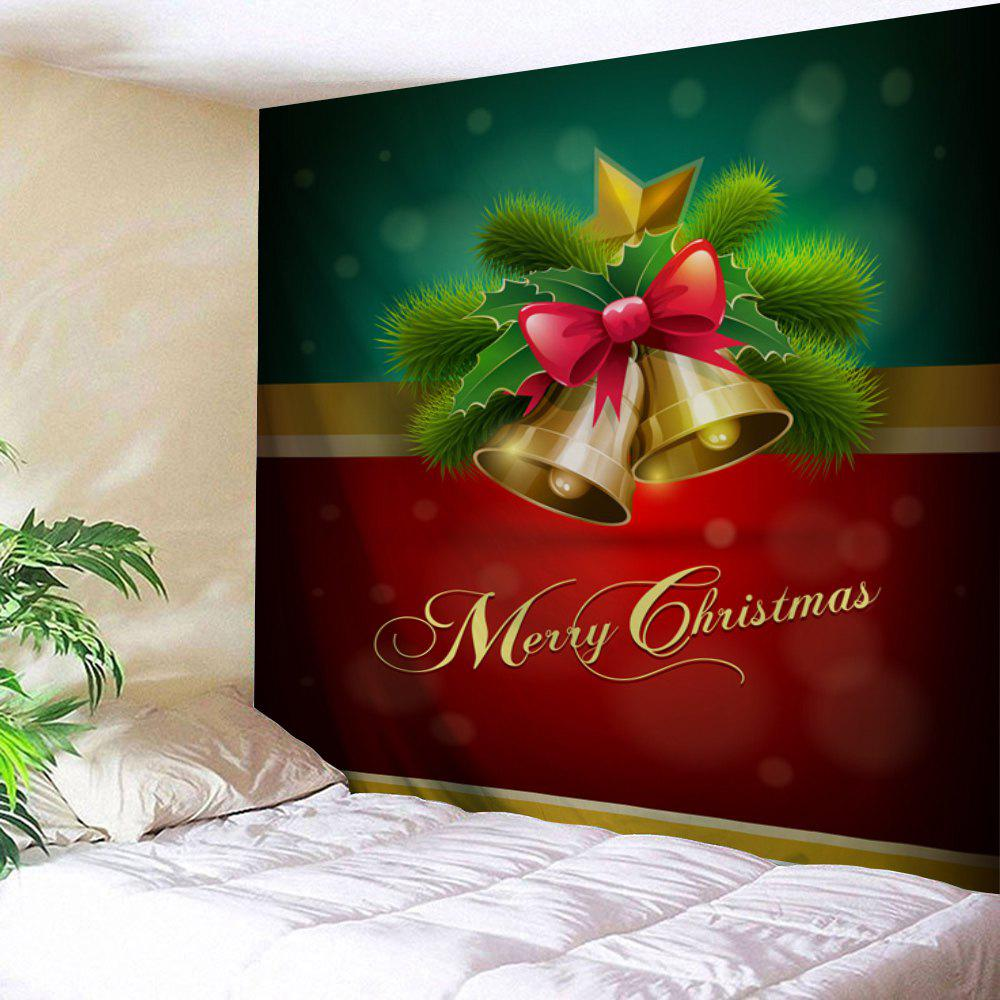 Wall Hanging Merry Christmas Bell Tapestry waterproof merry christmas graphic pattern wall hanging tapestry