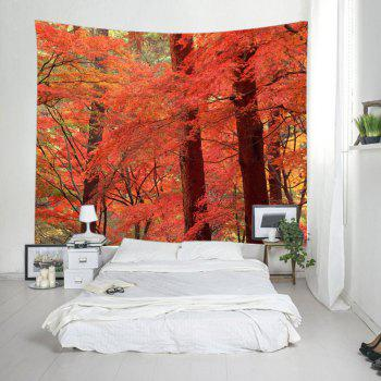 Maple Forest Print Tapestry Wall Hanging Decor - RED W91 INCH * L71 INCH