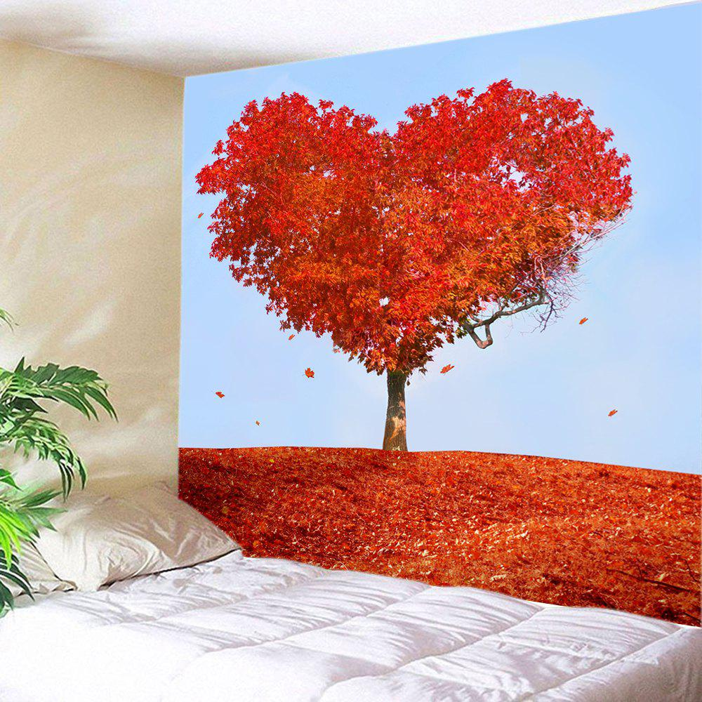 Heart Maple Tree Print Tapestry Wall Hanging Art valentine s day heart starlight print tapestry wall hanging decoration