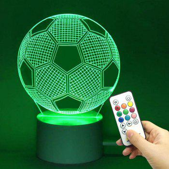 LED Remote Control Football Pattern 3D Colorful Light - TRANSPARENT TRANSPARENT