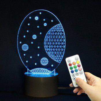 LED Universe Pattern Remote Control Color Change Lamp - TRANSPARENT TRANSPARENT