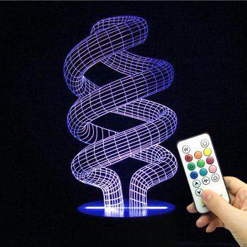 Winding Shape Multicolor Night Light With Remote Control - TRANSPARENT TRANSPARENT