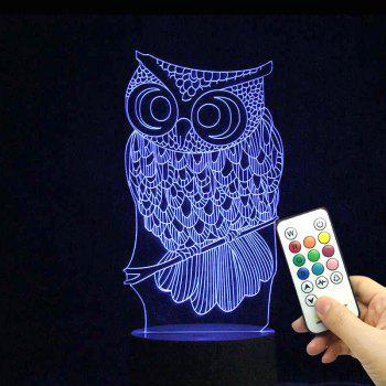 Remote Control Color Change Owl Shape LED Light - TRANSPARENT TRANSPARENT