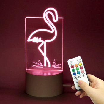 Flamingo Shape Remote Control Lamp With Color Change - TRANSPARENT TRANSPARENT