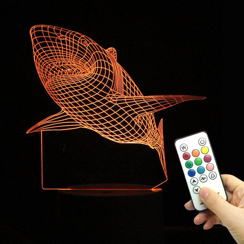 LED Shark Remote Control Color Change Lamp - TRANSPARENT