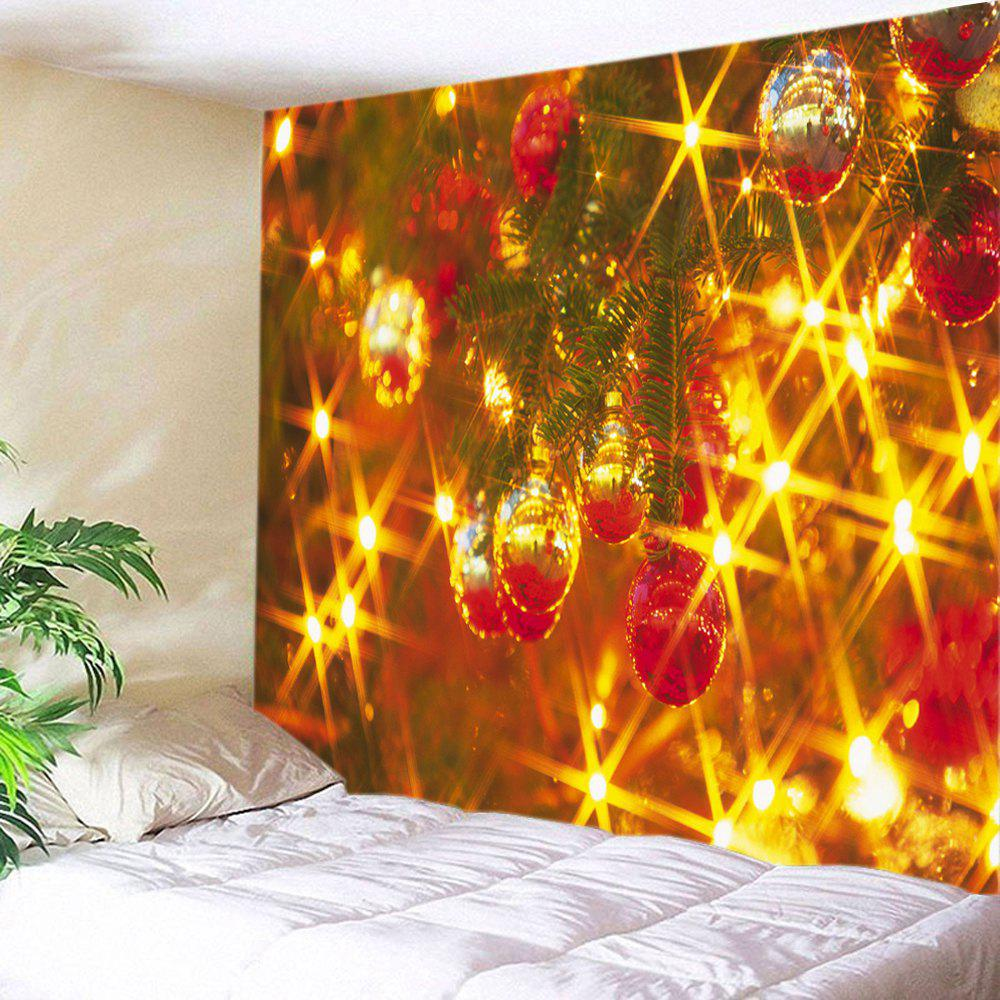 Christmas Baubles Lights Print Tapestry Wall Hanging Art   COLORMIX W91  INCH * L71 INCH