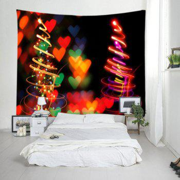 Coeurs de Noël Print Tapestry Wall Hanging Art - multicolorcolore W79 INCH * L59 INCH