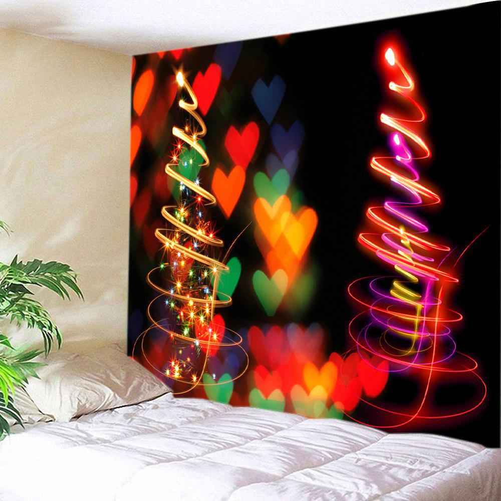Coeurs de Noël Print Tapestry Wall Hanging Art - multicolorcolore W59 INCH * L59 INCH
