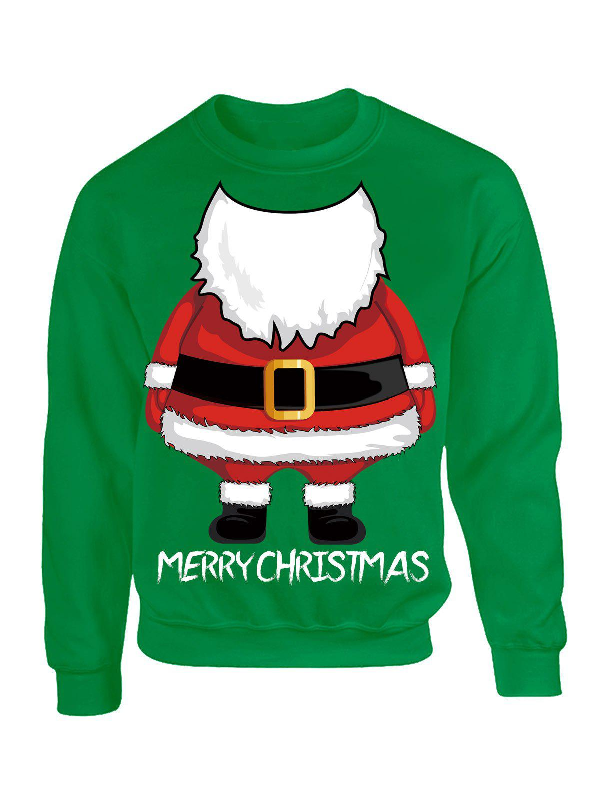 Santa Claus Printed Christmas Drop Shoulder Sweatshirt inflatable cartoon customized advertising giant christmas inflatable santa claus for christmas outdoor decoration
