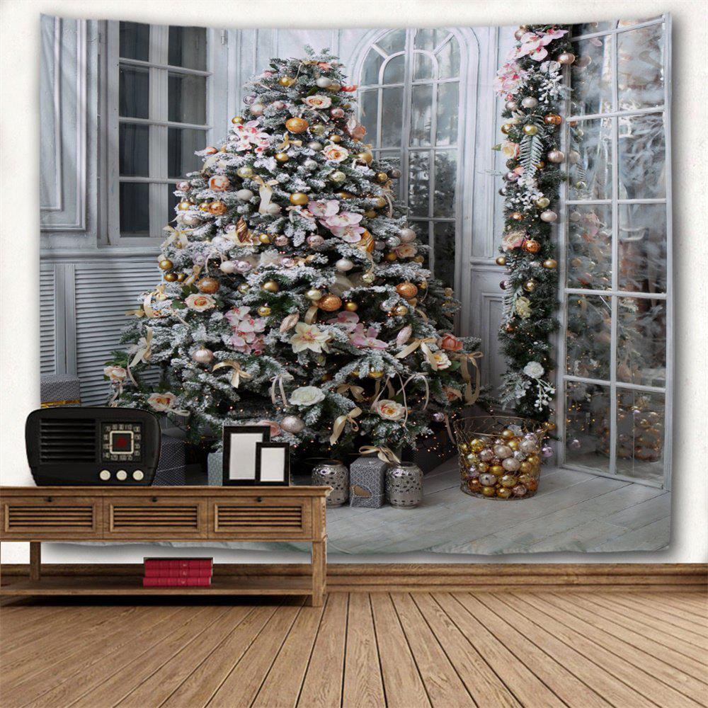 2018 christmas tree presents print tapestry wall hanging decor colormix w inch l inch in wall. Black Bedroom Furniture Sets. Home Design Ideas