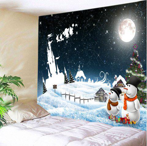 Christmas Starry Sky Print Tapestry Wall Hanging Art - COLORMIX W91 INCH * L71 INCH