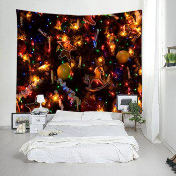 Christmas Tree Ornaments Print Tapestry Wall Hanging Art - COLORMIX W59 INCH * L59 INCH