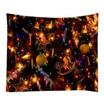 Christmas Tree Ornaments Print Tapestry Wall Hanging Art - COLORMIX COLORMIX
