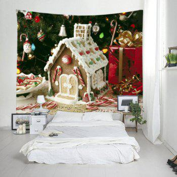 Christmas Tree House Print Tapestry Wall Hanging Art - W79 INCH * L71 INCH W79 INCH * L71 INCH