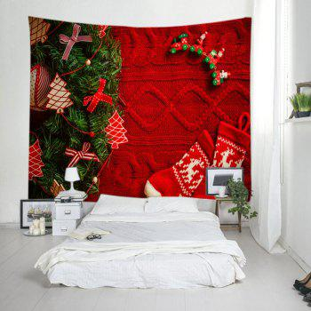 Christmas Tree Stockings Print Tapestry Wall Hanging Art - W79 INCH * L71 INCH W79 INCH * L71 INCH