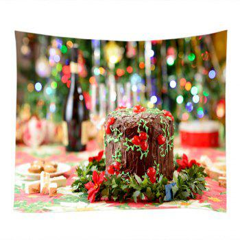 Christmas Cake Print Tapestry Wall Hanging Art - W79 INCH * L71 INCH W79 INCH * L71 INCH