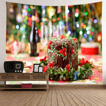 Christmas Cake Print Tapestry Wall Hanging Art - COLORMIX W91 INCH * L71 INCH