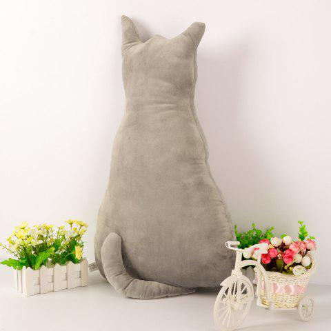 Lovely Soft Stuffed Animal Back of Cat Plush Toy - GRAY
