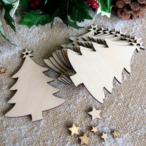 10 Pcs Wooden Trees Christmas Tree Decorations - PALOMINO