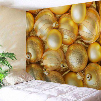Wall Hanging Christmas Ball Pattern Decorative Tapestry - GOLDEN GOLDEN
