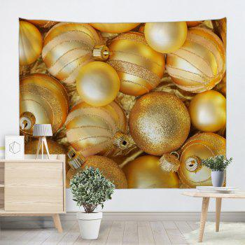 Wall Hanging Christmas Ball Pattern Decorative Tapestry - GOLDEN W91 INCH * L71 INCH