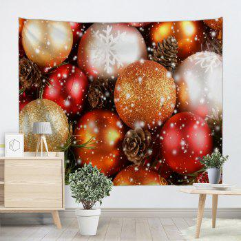 Wall Hanging Christmas Balls Printed Decorative Tapestry - COLORMIX COLORMIX