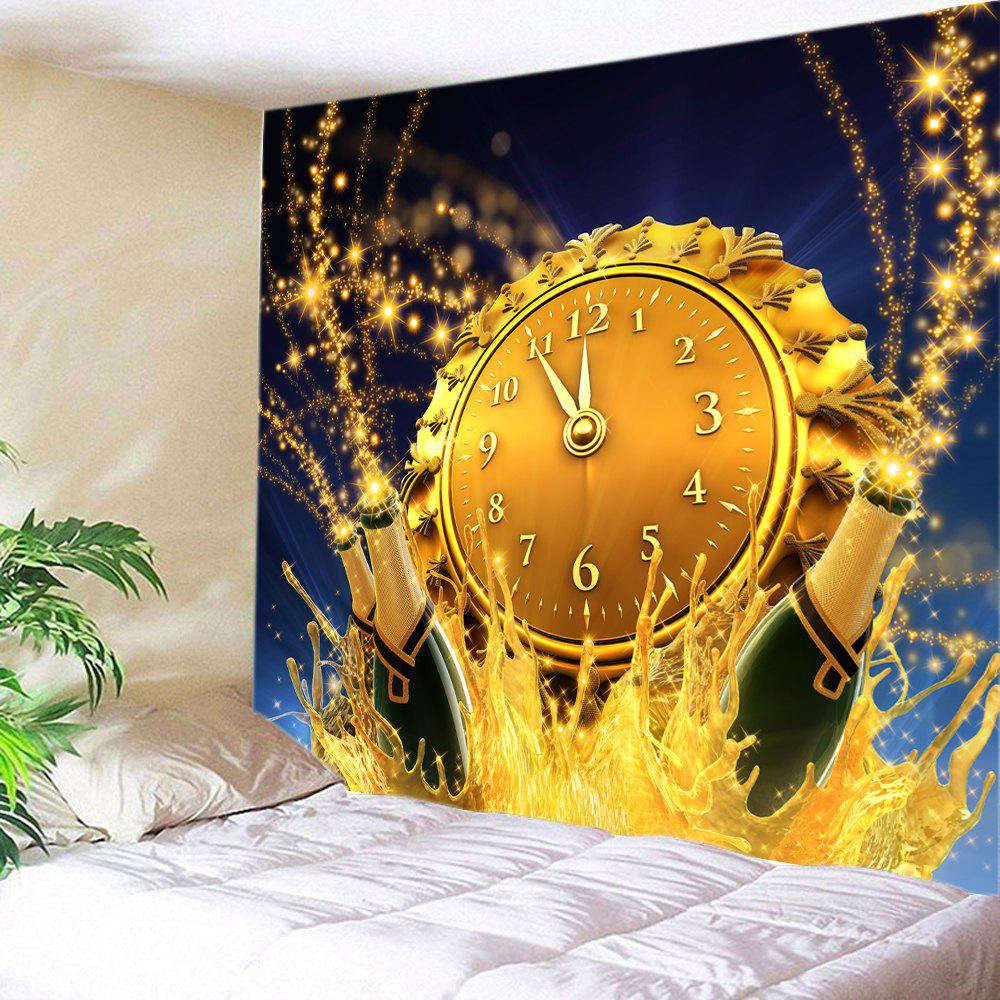 Christmas Clock Beer Print Tapestry Wall Hanging Art - CITRUS W59 INCH * L51 INCH
