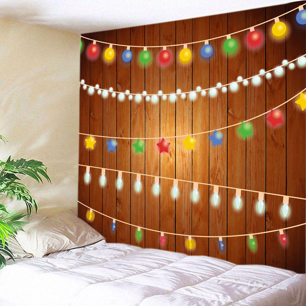 Christmas String Lights Print Tapestry Wall Hanging Decor   COLORMIX W91  INCH * L71 INCH