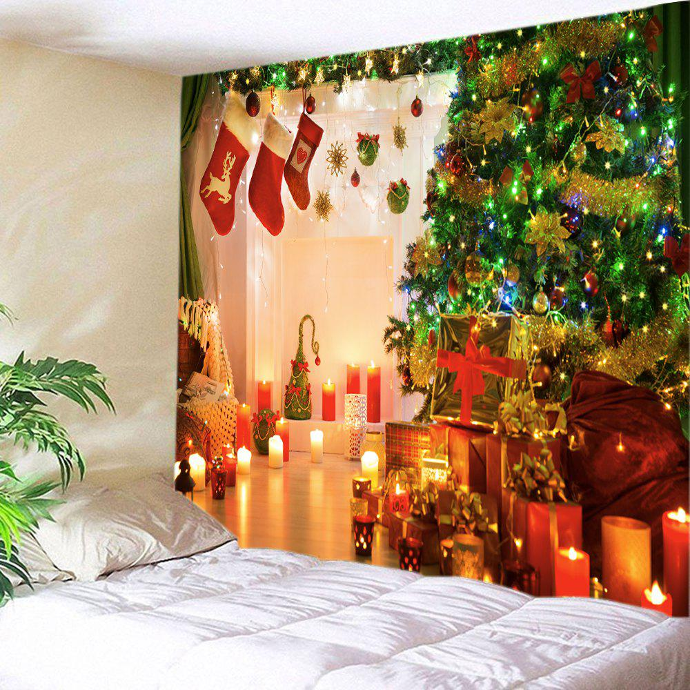 1f32f17f9b2 Christmas Tree Gift Stockings Print Tapestry Wall Hanging Art ...