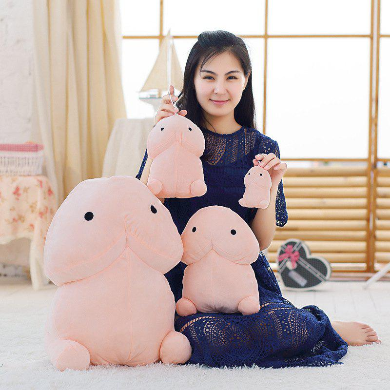 WUIBN Cartoon Character Style Soft Plush Toy with PP Cotton 1PC - LIGHT PINK 20CM